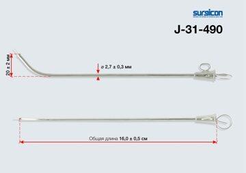 Катетер ушной металлический №2 арт. J- 31-490