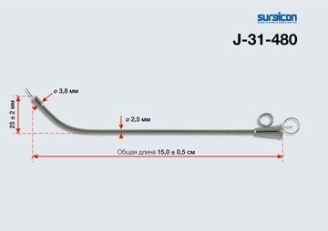 Катетер ушной металлический №1 арт. J-31-480